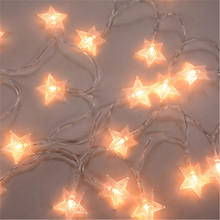 Light-String Night-Lamp Photo-Clip Star Christmas Garlands Wedding-Decorative LED Holiday