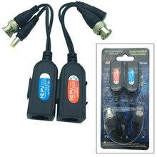 Coppia 5MP HD PV Passive Power Video Dati Audio Balun RJ45 Trasmettitore Ricevitore Twisted-Pair BNC Q9 D3