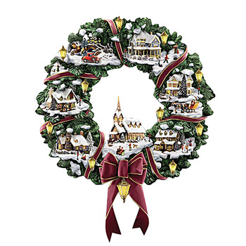 Christmas Village Wreath Decoration Paste Window Paste Sticker Personalized Wreath Pattern Home Decoration новогодние украшения# image