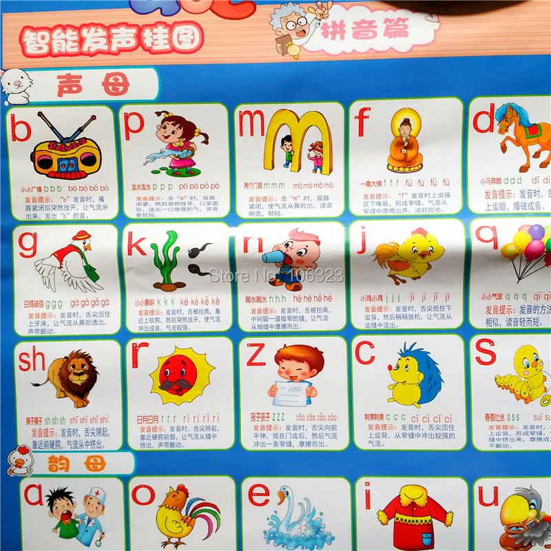 Chinese Phonetic Alphabet Learning Machine, Kids PinYin Sound Toys, China?s Confucius Institute Basic Introductory Courses Gift