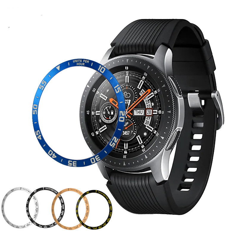 Watch Bezel For <font><b>Samsung</b></font> Galaxy Watch <font><b>46mm</b></font> 42mm Gear S3 Frontier/Classic Metal Ring Case Anti Scratch For Galaxy Adhesive Cover image