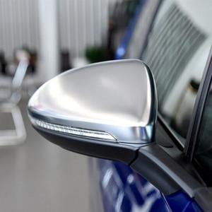 Image 5 - 2PC VW 골프 7 MK7 MK7.5 GTI R GTE GTD 2013   2019 Touran 2016 2017 ABS 측면 후면 미러 커버 교체 캡 셸