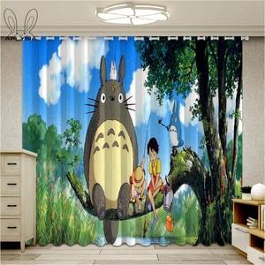Cartoon Totoro Curtains For Ki