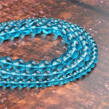 Fashion Blue Glass Round Beads Loose Jewelry Stone 4/6/8/10 / 12mm Suitable For Making Jewelry DIY Bracelet Necklace