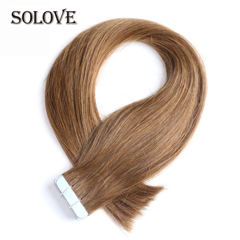 Remy Tape In Human Hair Extensions Natural Real Human Hair  2g/stand 20pcs/pack Tape In Hair Skin Weft