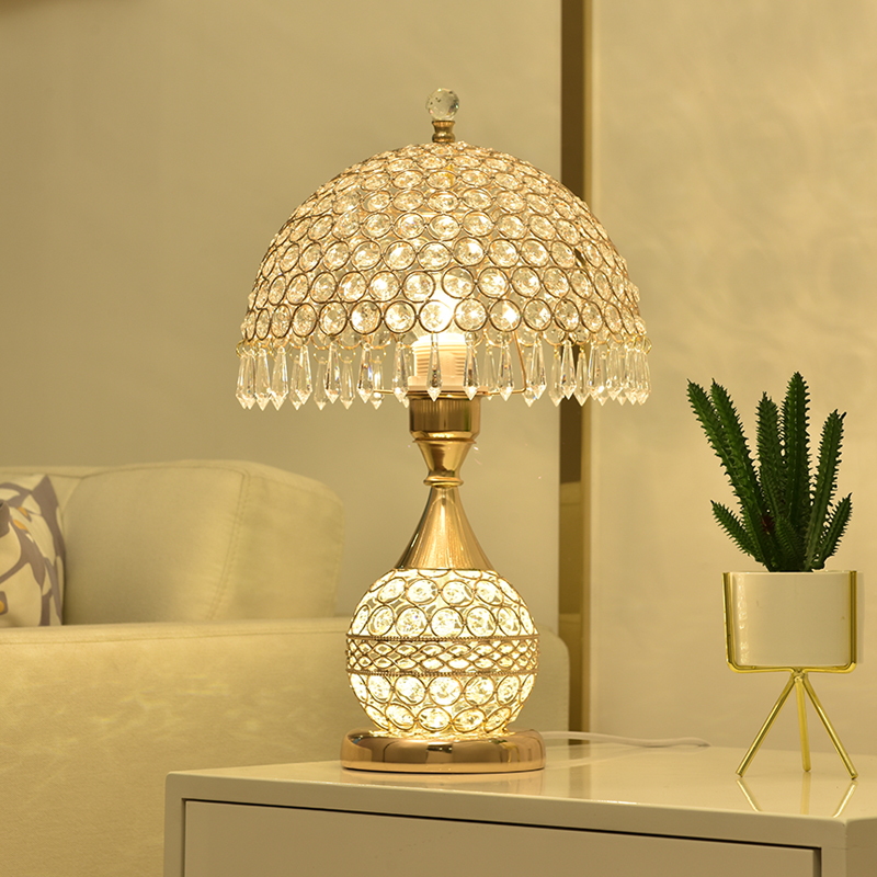 Настольная лампа из хрусталя для спальни  гостиной  светодиодный светильник  современная кровать  Рождественское украшение pf8308