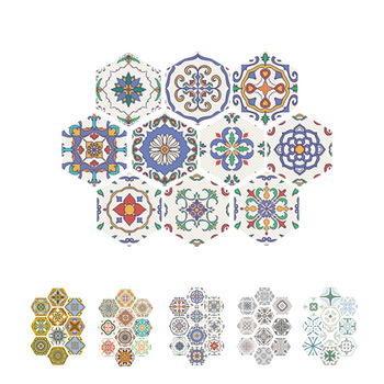 10 Pieces Autocollant Mural Pvc Hexagone Carrelage Autocollant Salle De Bain Cuisine Decalcomanie Irreguliere Auto Adhesif Carrelage Mur Panneau Art Decors Aguarnachlorie