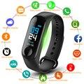 TEZER M3 плюс Смарт Браслет сердечного ритма крови Давление здоровья Водонепроницаемый умные часы, Bluetooth, наручные часы, браслет для занятий сп...