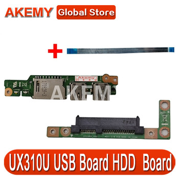 Free cable FOR Asus UX310UA UX310UV UX310UQ UX310UQk UX410UQK UX410U USB Audio usb board Laptop HDD Hard Disk Drive Board image