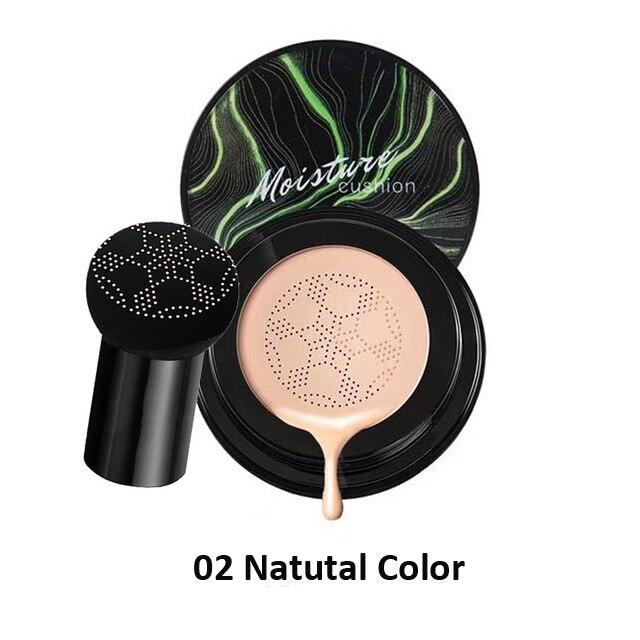 Грибной головкой макияж воздушная подушка Увлажняющая Основа Воздухопроницаемый натуральный Осветляющий Макияж BB крем - Цвет: CHAFFUL 02 15g