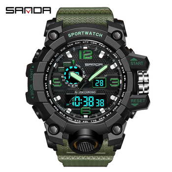 SANDA Fashion Outdoor Sport Watch Men Electronic Watch Casual LED Wrist Watches  3Bar Waterproof Digital Watch relogio digital digital watches men waterproof sports wrist watch electronic running fitness led chronograph watch outdoor for men relogio meski