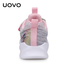 UOVO Kids Sport Sneaker For Girls Running Shoes Autumn Fashion Children Breathable Mesh Casual Shoes 4 5 6 7 8 9 10 11 12 Year kids sport suits 2018 new spring autumn casual children clothing set 3 4 5 6 7 8 9 10 11 year boys girls toddler teens tracksuit
