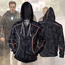 Iron Man hoodies Tony Stark Hoodie Casual Sweatshirt suit cosplay traje hombre/mujer adulto chaqueta de camiseta de manga larga(China)