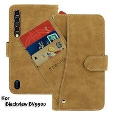 """Кожаный бумажник Blackview BV9900 чехол 5,8"""" Флип модные роскошные чехлы с отделениями для карточек на передней панели Чехол деловые магнитные чехлы для телефонов"""