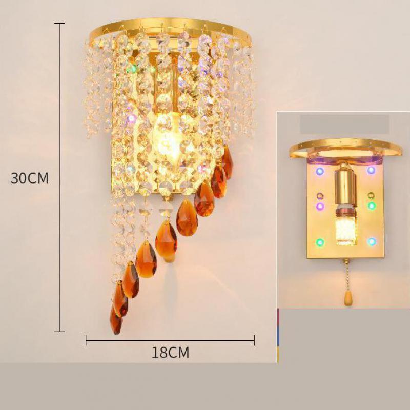 chrome prata arandela lâmpada de parede foyer