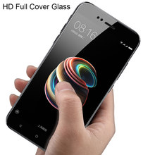 9H full cover protective glass for Xiaomi Redmi note 4x 5A screen protector tempered glass on Xiaomi Mi A1 Redmi 5A 5 plus glass(China)