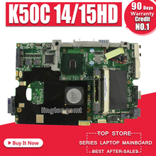 Placa base K50C 14/15HD REV 2,1 USB2.0 For Asus K40C K50C X5DC placa base de ordenador portátil K50C K50C teste placa base OK