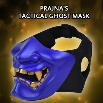 Gorąca sprzedaż zabawa półmaska Cosplay samuraj impreza z okazji Halloween festiwal idealna maska do występów na imprezę Halloween wydarzenia tanie i dobre opinie eco-friendly