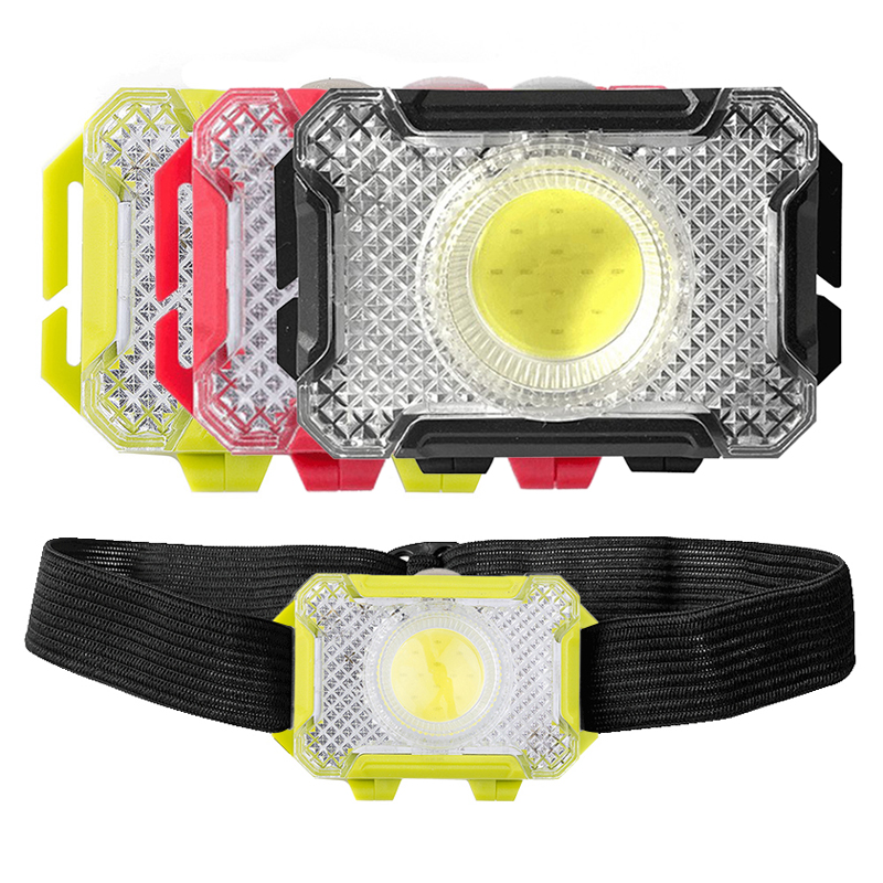 Portable Mini LED Headlamp COB LED Flashlight Lantern Waterproof Fishing Headlight For Outdoor Camping Hiking Powered By 3x AAA