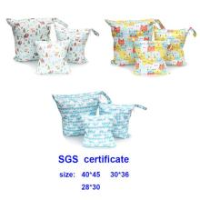 New 3 combinations Set waterproof diaper bag 40*45CM 30*36cm 28*30cm cycle use washable baby diaper bags