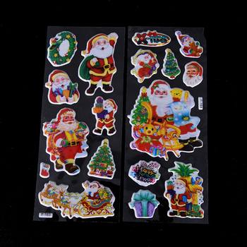 5 Sheets/lot Scrapbooking 3D Merry Christmas Decorative DIY Stationery Sticker Tree Santa Claus Adhesive Stickers - discount item  30% OFF Stationery Sticker