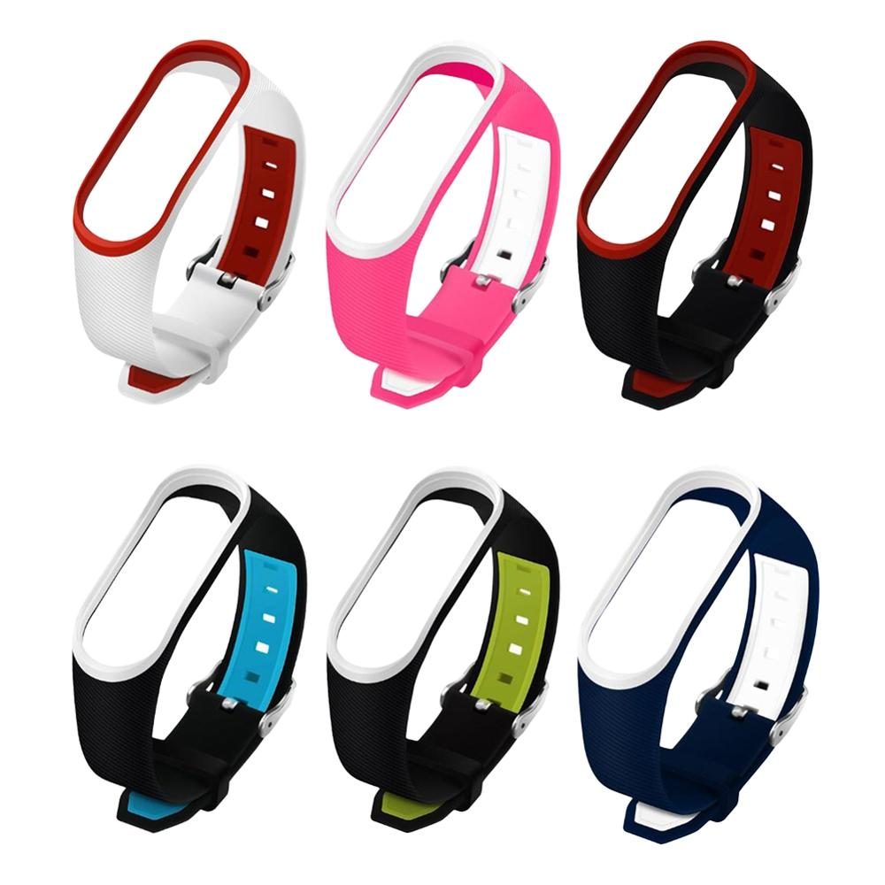 Bracelet for Xiaomi Mi Band 3 4 Sport Strap Watch Silicone Wrist Strap for Xiaomi Mi Band 3 4 3 Bracelet Miband 4 3 Strap in Smart Accessories from Consumer Electronics