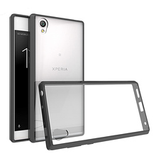 Slim TPU/PC Fitted Case Air Cushion Shockproof Cover Crystal Transparent Back Shell For Sony Xperia L1 5.5 inch Fundas Coque
