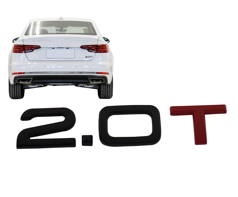 Глянцевая черная красная 2,0 T 2,0 T для автомобиля, крыла багажника, эмблема, наклейка, значок, наклейка
