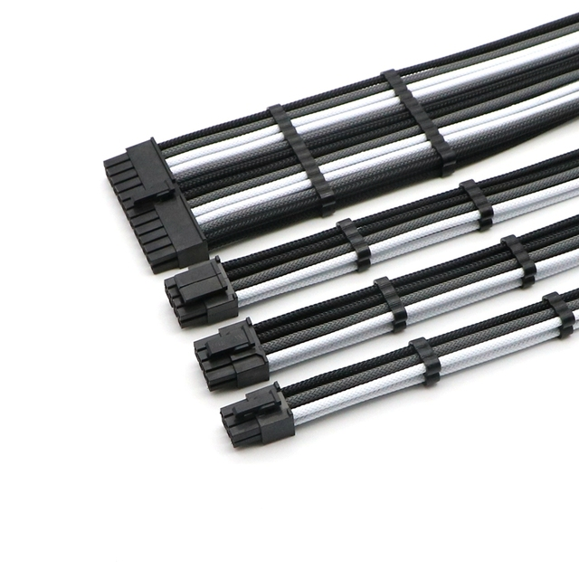 Basic Extension Cable Kit   ATX 24Pin, CPU 4+4Pin, GPU 6+2Pin, GPU 6Pin Power Extension Cable.