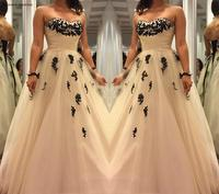 2019 Cheap Champagne Prom Dress With Lace Applique Sleeveless Long Formal Holiday Wear Party Gown Custom Made Plus Size
