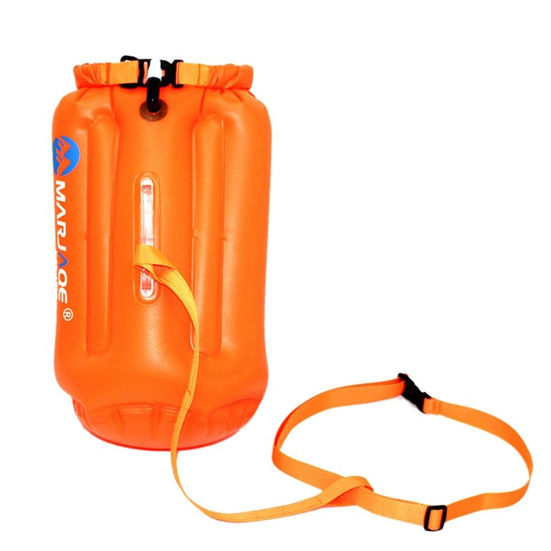 Marjaqe 20L Outdoor Waterproof Air Bag Swimming Buoy Swimming Towing Floating Bag Kayaking Storage Bag Drifting Signal Buoy