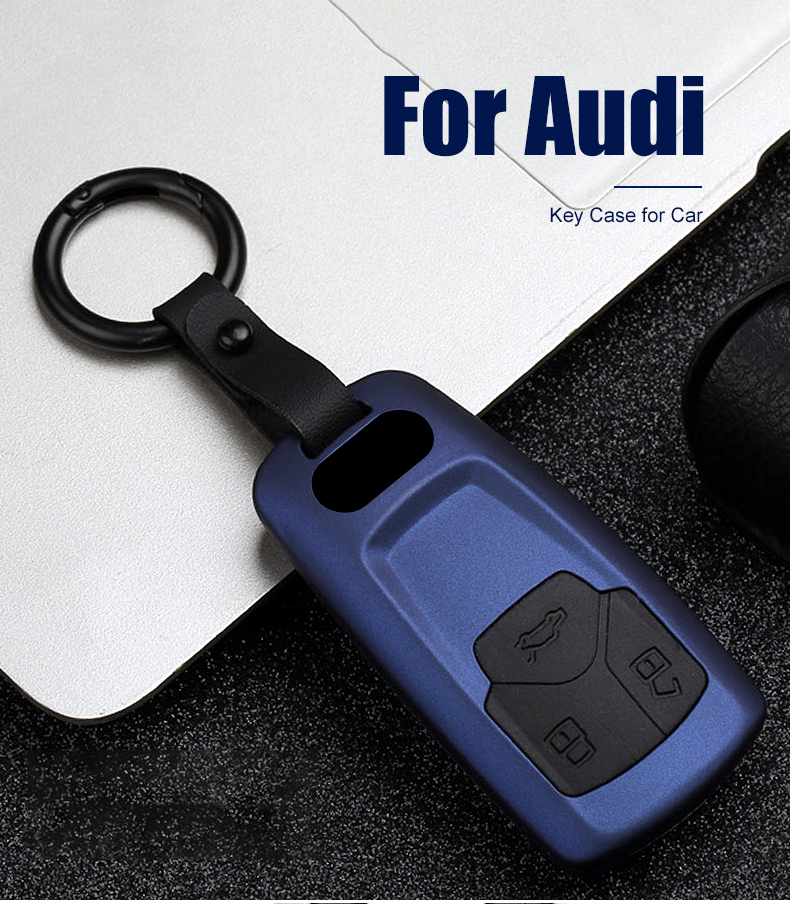 Audi A3 A4 A5 A6 A7 S3 S4 S5 S7 Q3 Q5 Q7 RS New Smart Key FOB Luxury Real Carbon Fiber CASE Cover for 2017 2018