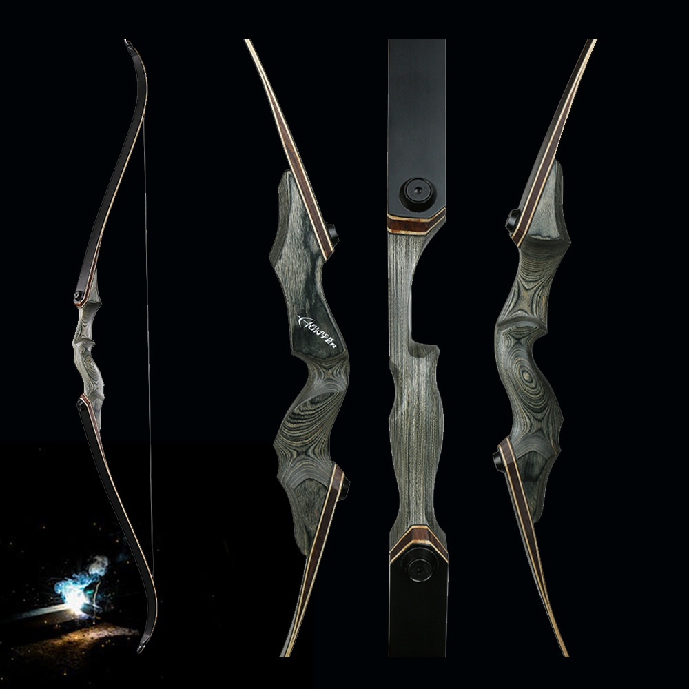 Toparchery 30/40/50lbs 60inch Take Down Hunting Bow Wooden Riser Left/Right Hand Recurve Bow New-tech Limbs Shooting Outdoor