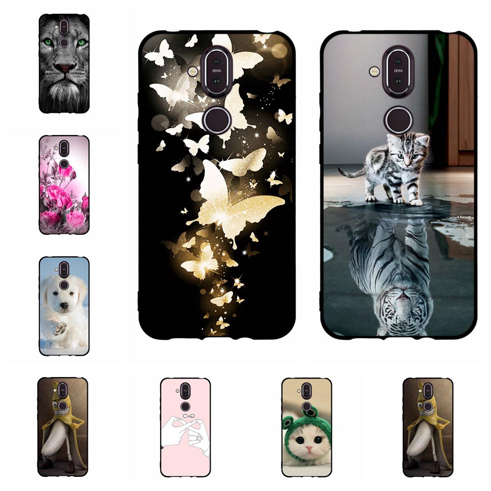 Phone For <font><b>Nokia</b></font> <font><b>8.1</b></font> <font><b>Case</b></font> <font><b>Silicone</b></font> Back Protective Funda for <font><b>Nokia</b></font> X7 <font><b>Case</b></font> Black Matte Soft FOR <font><b>Nokia</b></font> <font><b>8.1</b></font> Cover image