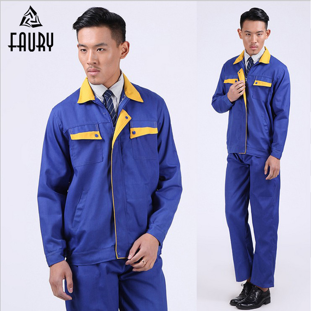 Fund Canvas Long Sleeve Automobile Service Electric Welding Serve Wear-resisting Ventilation Workshop Labor Insurance Serve