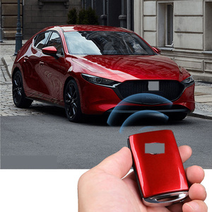 For Mazda 3 Axela 2019 2020 2021 Car Zine-alloy Key Case Protection Key Cover Shell Keychain Ring Car Protective Accessories