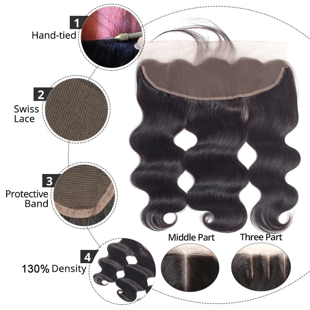 Ha57050d41e1e4dbd98721c657c983b44V Brazilian Hair Weave Bundles With Frontal Beaudiva Hair Brazilian Body Wave Human Hair Bundles With Lace Frontal Closure