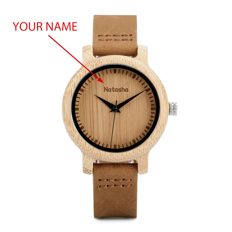 BOBO BIRD Couple Watch Men Women Wood Quarzt Wristwatches for Male Personalized Engraved Anniversary groomsman Gift-in Lover's Watches from Watches