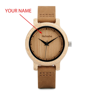 Image 1 - BOBO BIRD Couple Watch Men Women Wood Quarzt Wristwatches for Male Personalized Engraved Anniversary groomsman Gift