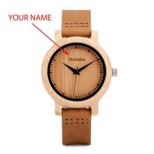 BOBO ptak zegarek dla pary mężczyźni kobiety drewna Quarzt na rękę dla mężczyzn spersonalizowane grawerowane rocznica groomsman prezent