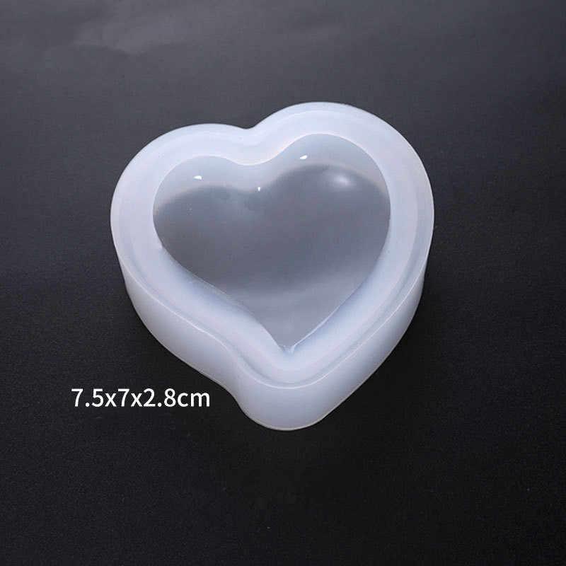 Molde de silicone para doces, forma de diamante, pêssego, sobremesa, bolo, molde, confeitaria, decoração artesanal, de cristal