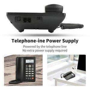 Image 4 - Masaüstü kablolu telefon ile arayan kimliği ekran, kablolu sabit telefon ev/otel/ofis için, ayarlanabilir hacim, gerçek zamanlı tarih W