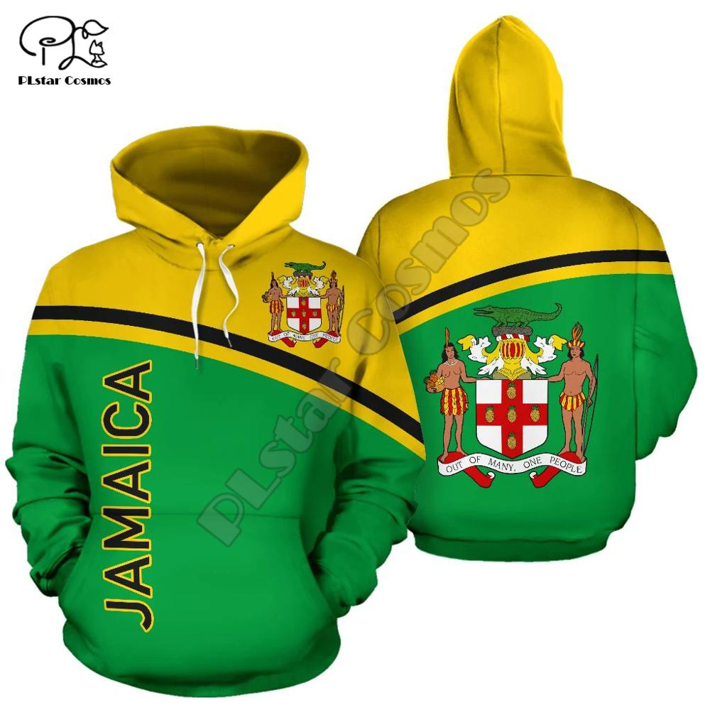 Men Women Jamaica Indian Print 3D Hoodies Funny Country Flag Sweatshirt Fashion Hooded Long Sleeve Zipper Unisex Pullover