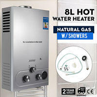 Hot Water Heater Natural Gas LNG 8L On Demand Tankless Water Heater Digital|Electric Water Heater Parts| |  -