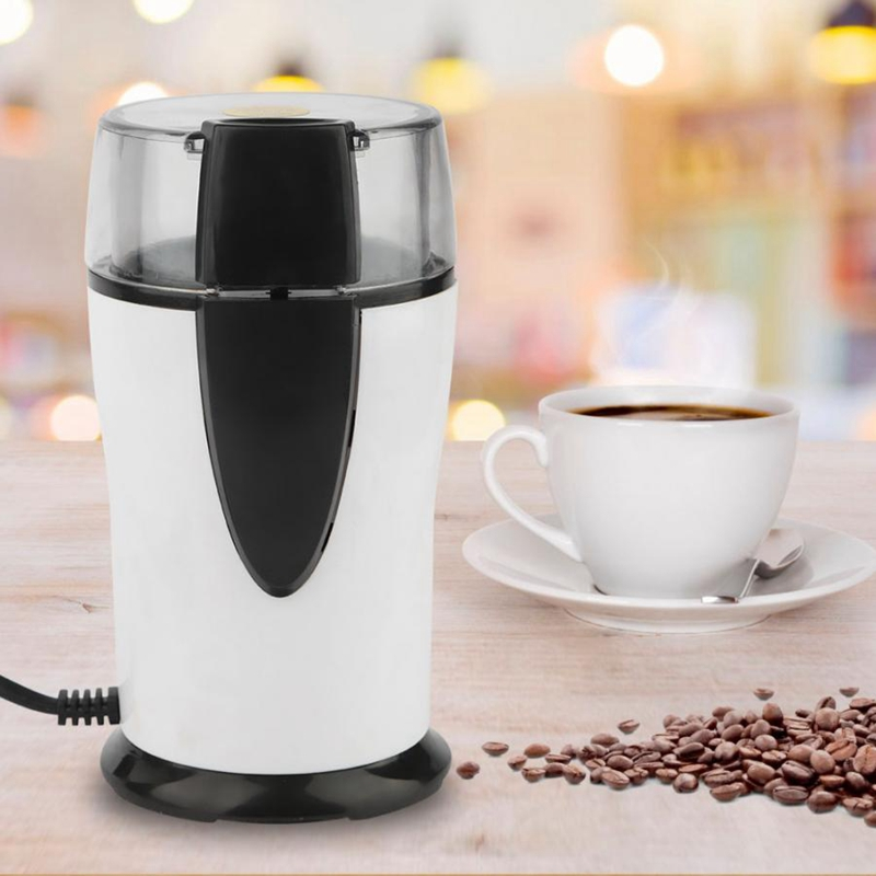 Ev Aletleri'ten Kahveciler'de Yeni Sıcak Elektrikli Kahve Değirmeni 220 240 V Fasulye Taşlama Değirmeni Kahve değirmeni kahve öğütme makinesi için Tahıl Baharat AB Pl title=