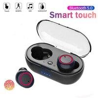 Auricolare Bluetooth Y50 5.0 TWS cuffie Wireless auricolari auricolari cuffie Stereo da gioco con scatola di ricarica per tutti gli smartphone