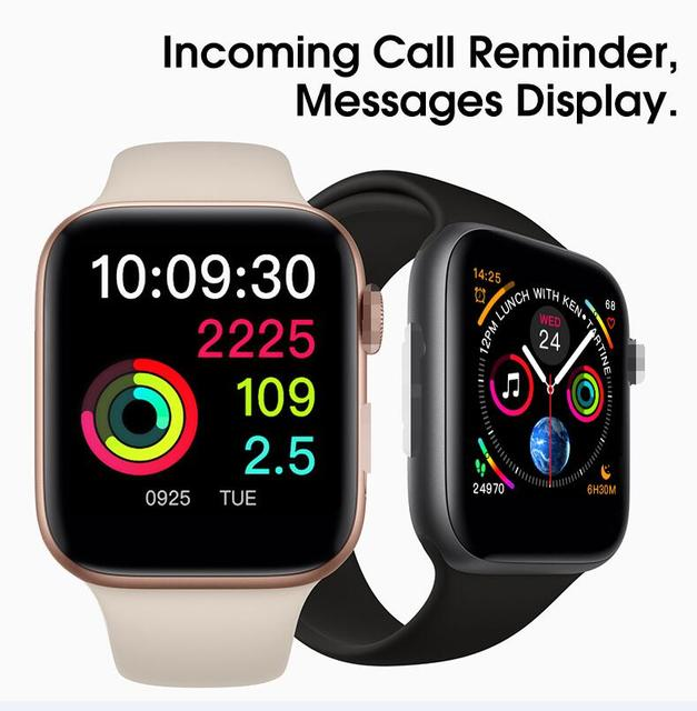 NEW 44mm size 1:1 Smart Watch IWO 8 plus Alloy matte case similar series 4 Heart Rate Smartwatch SIRI For iOS Android PK IWO 5 6