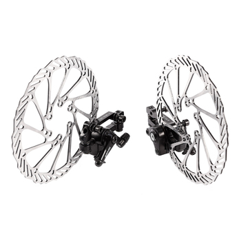 1 Pair of MTB Mechanical Bike Disc Brake Front & Rear Disc Rotor Brake Kit for Mountain Bikes Road Bicycles front disc