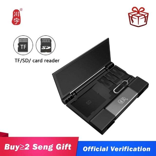 カワウ USB3.1 メモリカードボックスカードリーダー otg 多機能カードリーダー sd tf デュアルカードスロット usb/タイプ c/マイクロ usb インタフェース C350Dカードリーダー