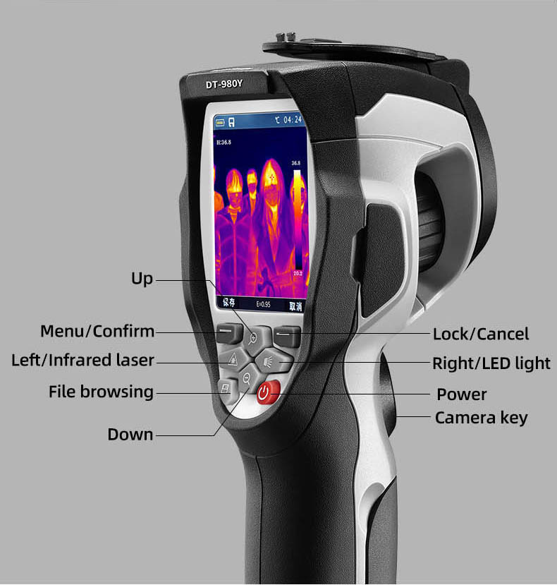 Infrared Thermal Camera With Live Streaming to Computer or TV Bluetooth For Human Body 15